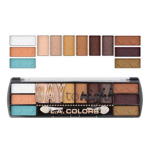 L.A. Colors Day to Night 12 Color Eyeshadow - Sunset