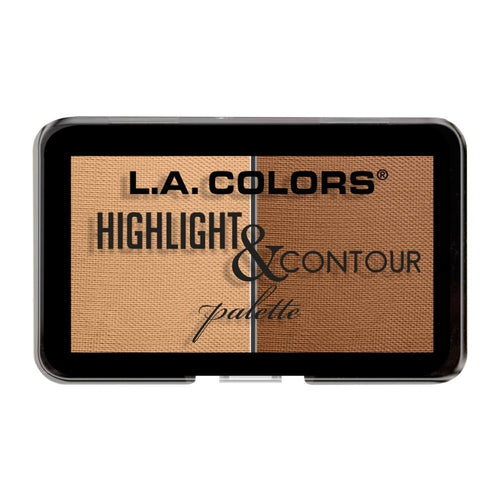 L.A. Colors Highlight & Contour Palette - Light to Medium
