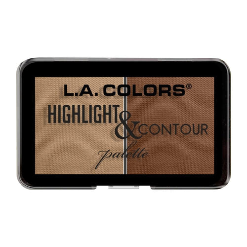 L.A. Colors Highlight & Contour Palette - Medium to Tan