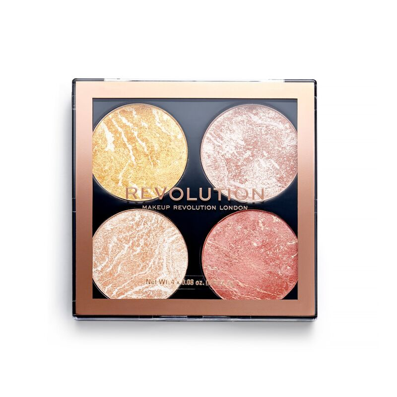 Makeup Revolution Cheek Kit Make It Count+Revolution Re-Loaded Palette Velvet Rose (CLR)