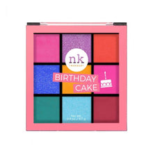 Load image into Gallery viewer, Nicka K Nine Color Eyeshadow Palette - Birthday Cake