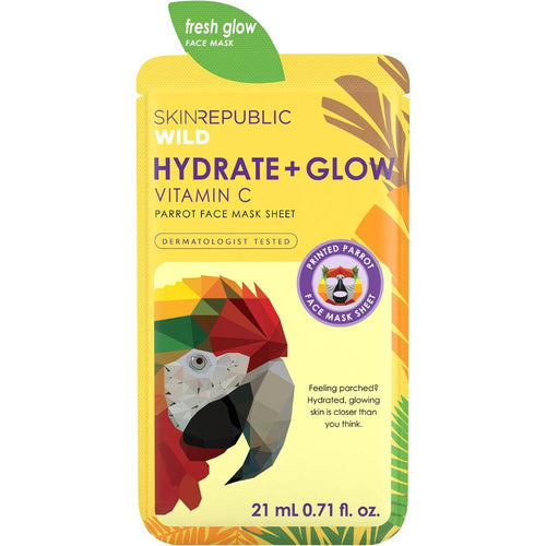 Skin Republic Hydrate + Glow Vitamin C Parrot Face Mask Sheet