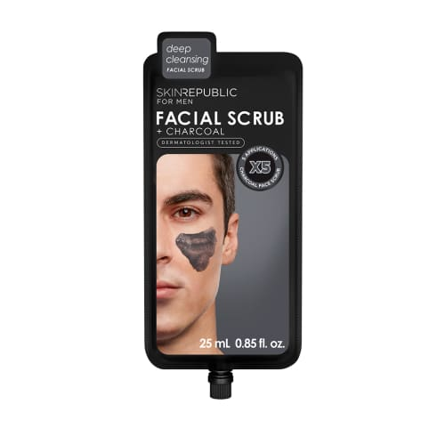Skin Republic Mens Charcoal Facial Scrub - Skincare