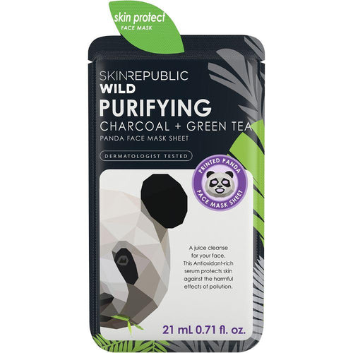 Skin Republic Purifying Charcoal + Green Tea Panda Face Mask Sheet