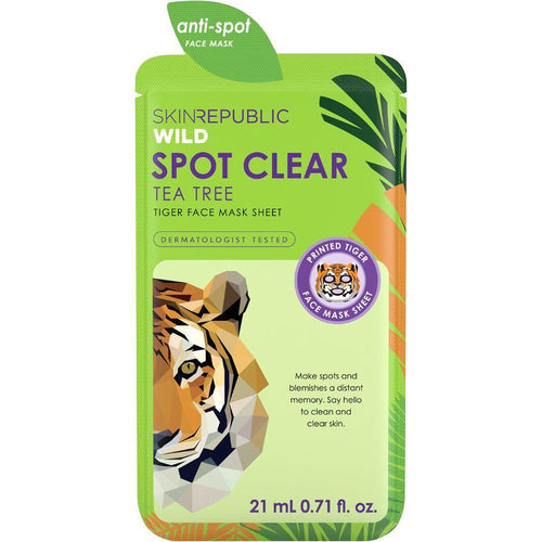 Skin Republic Spot Clear Tea Tree Tiger Face Mask Sheet