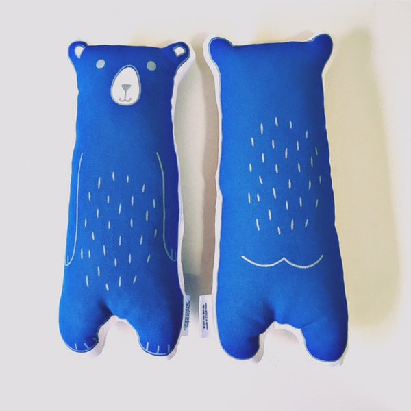 Mini bear plushie - navy
