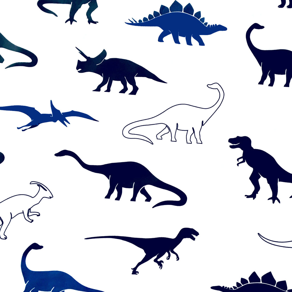 Dinosaur Duvet Set - Dark Blue/Black