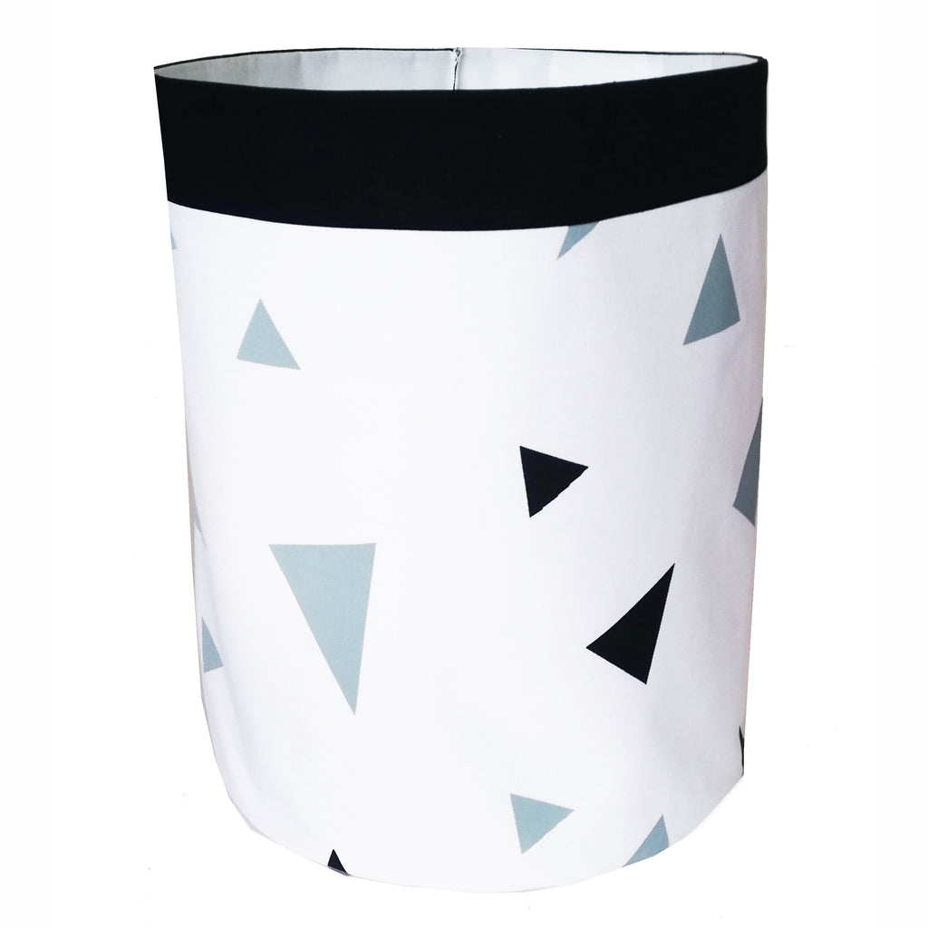 Grey & Black Triangle Print Storage Bag