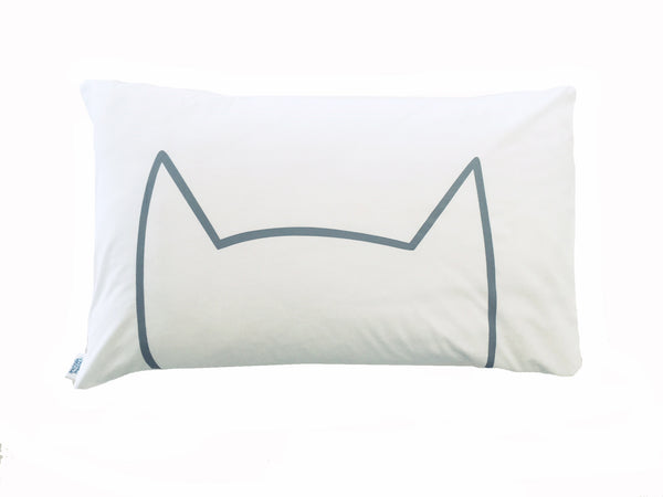 Meow Pillowcase - Grey