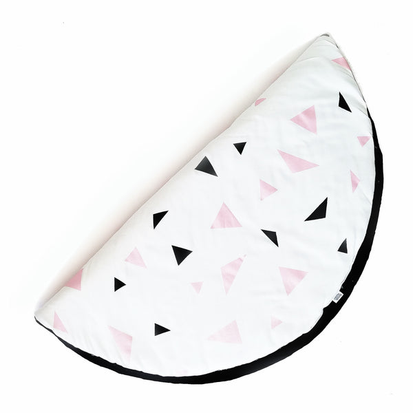 Metallic Pink & Black Triangle Playmat