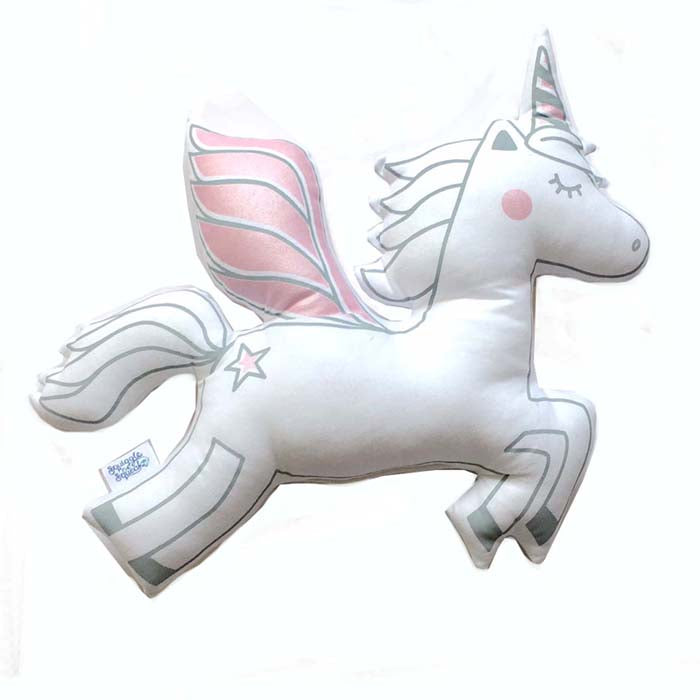 Unicorn Plushie - Metallic Pink