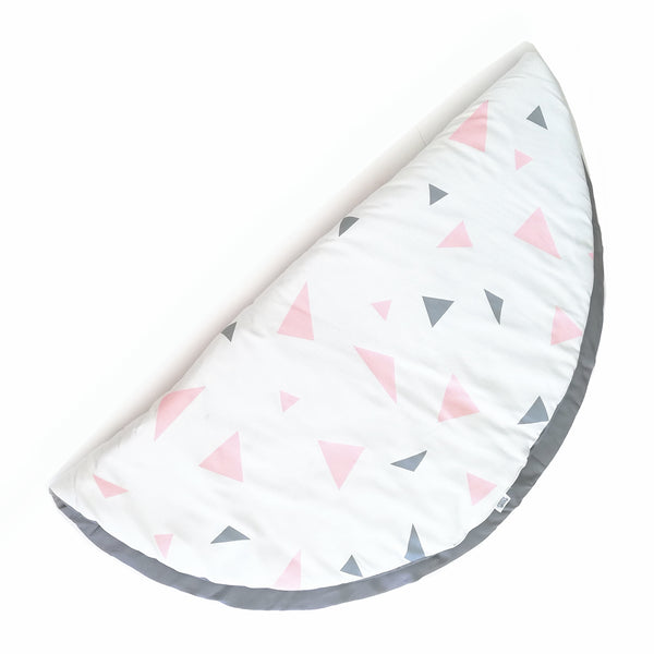 Pastel Pink & Grey Triangle Playmat