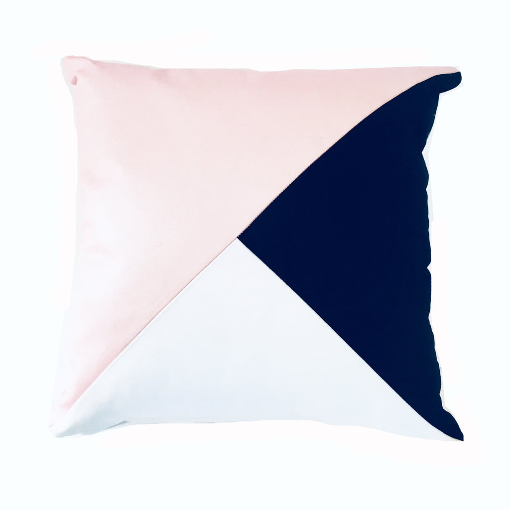 Pink & Black Triangle Scatter Cushion