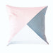 Pink & Grey Triangle Scatter Cushion