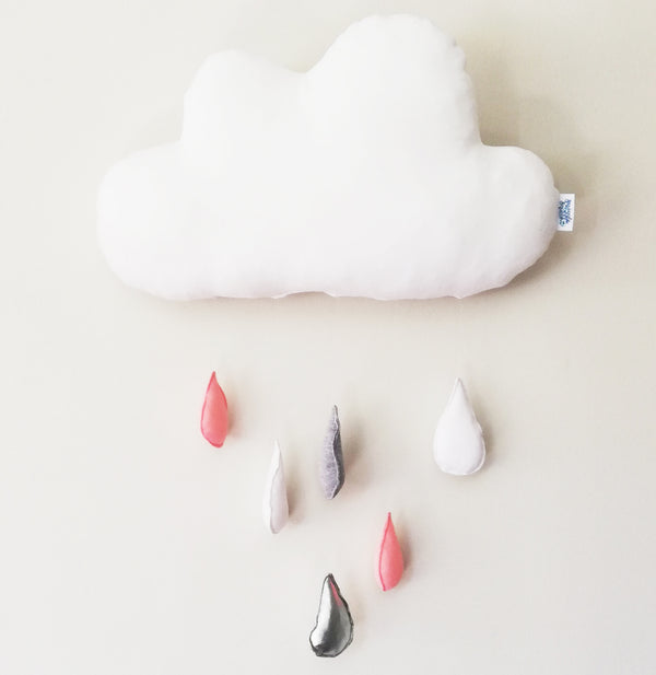 Rain Cloud Wall Hanging - blush pink
