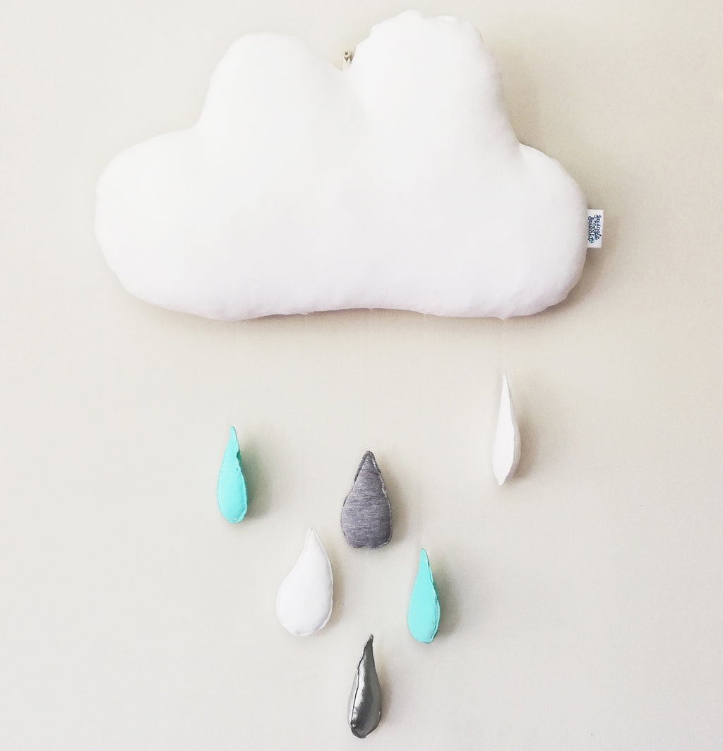NEW Rain Cloud Wall Hanging - turquoise