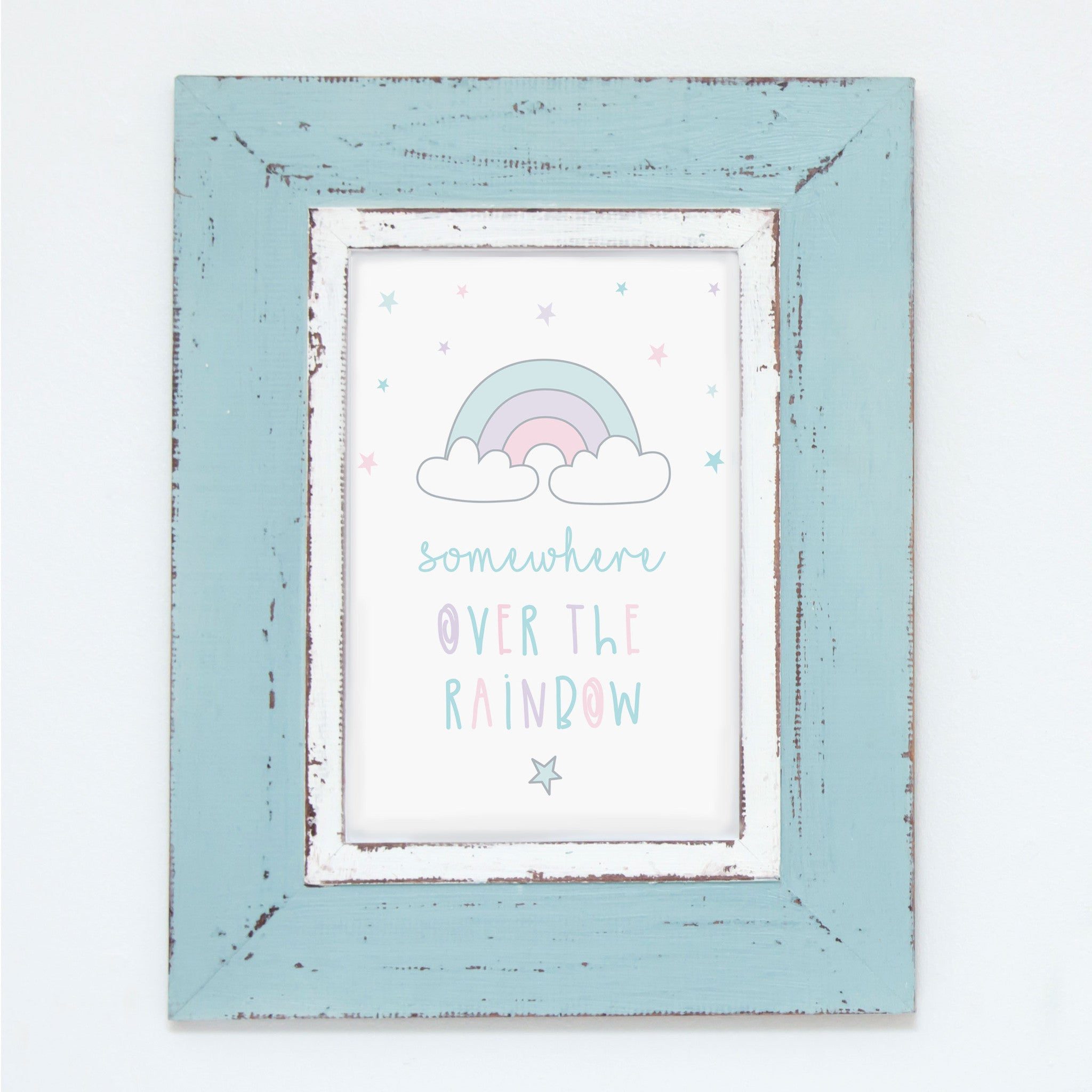 Somewhere Over The Rainbow Poster Squiggle Squeak