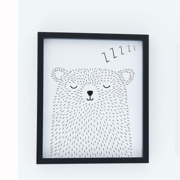 Snoozy Mr Bear Poster