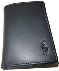 U.S Polo Assn Black Genuine Leather Trifold Wallet