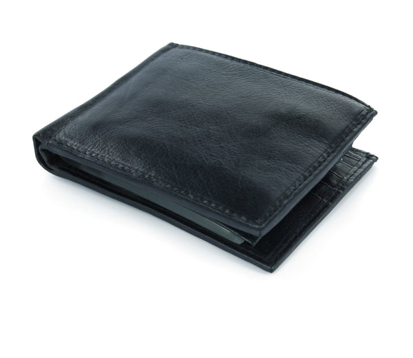 Paul & Taylor Black Leather Passcase Wallet