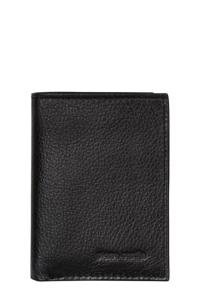 Pierre Cardin Black Leather Trifold  Wallet with ID Window