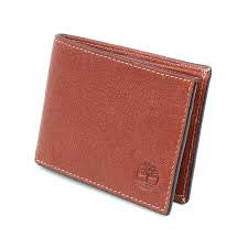 Timberland Brown Leather Passcase Slim Bilfold Wallet