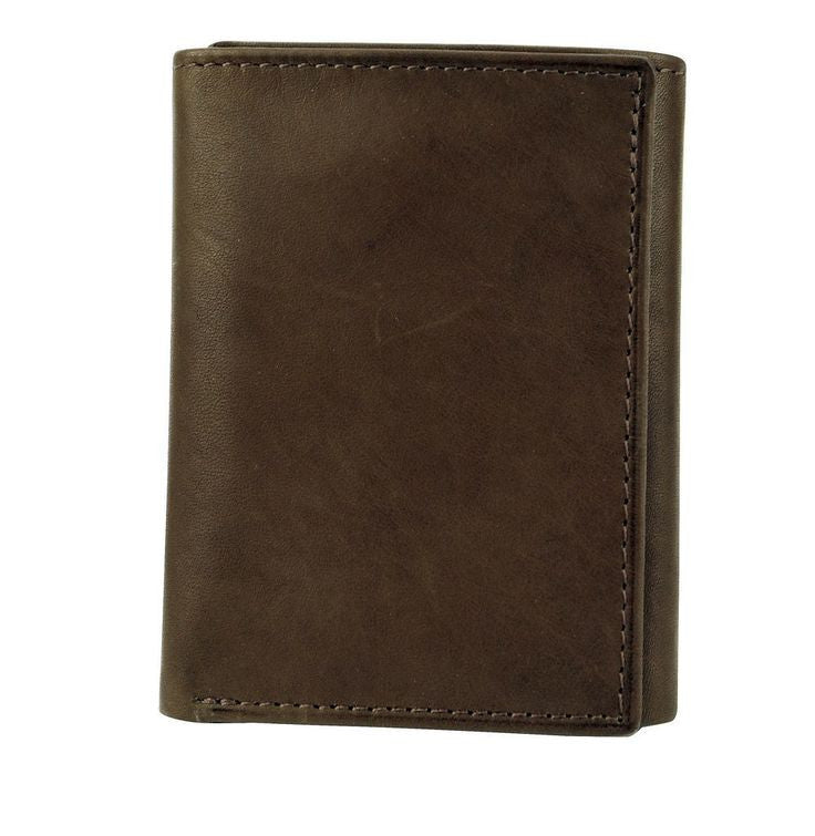 Joseph Abboud Brown Antique Super Slim Trifold Wallet