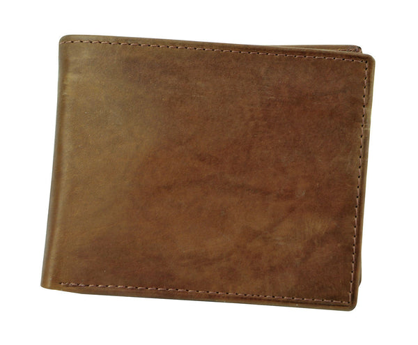 Joseph Abboud Light Brown Antique Leather Antique Leather Passcase Wallet
