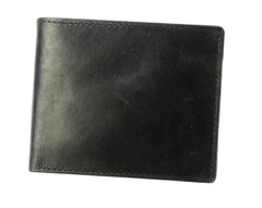 Joseph Abboud Black Antique Leather Antique Leather Passcase Wallet