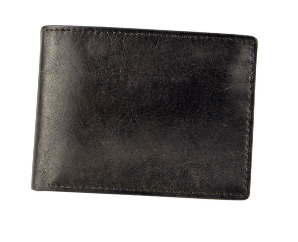 Joseph Abboud Dark Brown Antique Leather Antique Leather Passcase Wallet