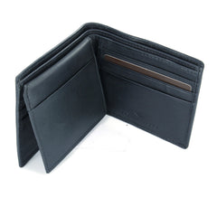 Joseph Abboud Black Genuine Leather Passcase Wallet with Flip ID Window