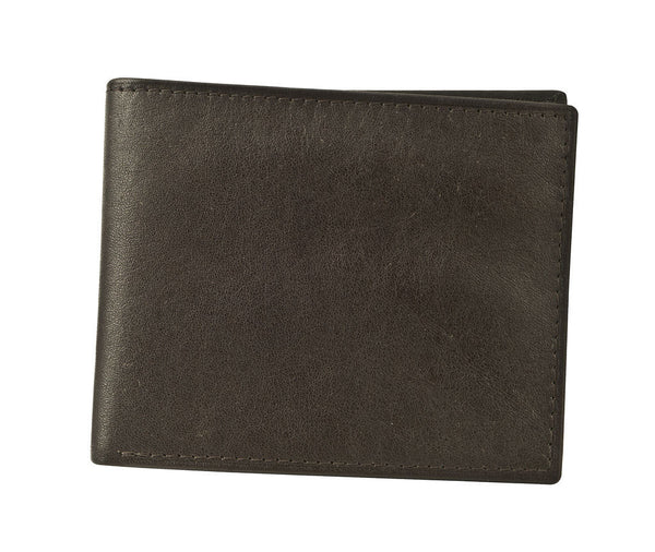 Joseph Abboud Brown Full Grain Aniline Leather Super Slim Passcase Assortment Wallet
