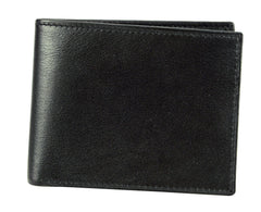 Joseph Abboud Black Full Grain Aniline Leather Super Slim Passcase Assortment Wallet