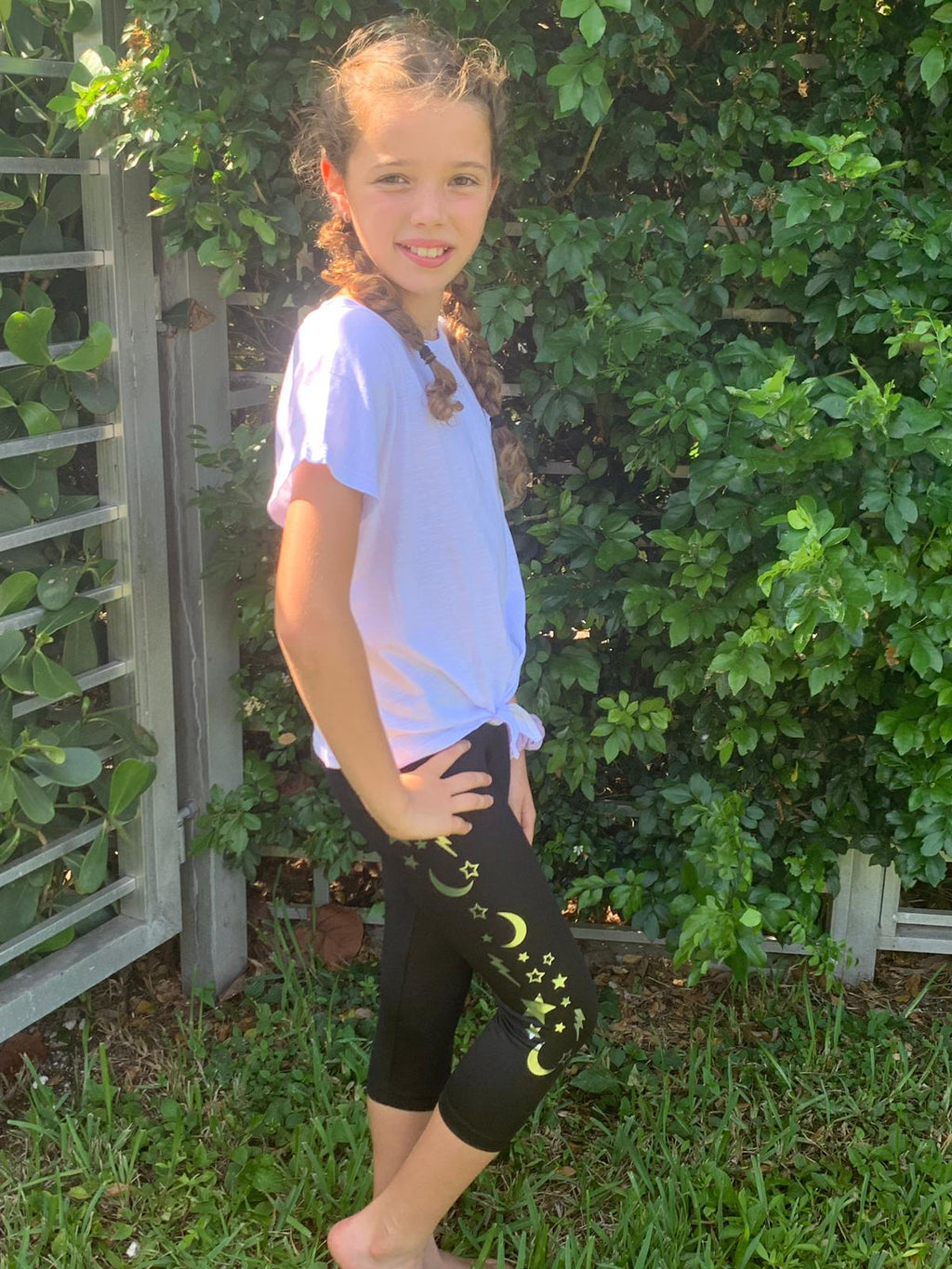 Galaxy Capri - Fanilu Activewear For Kids