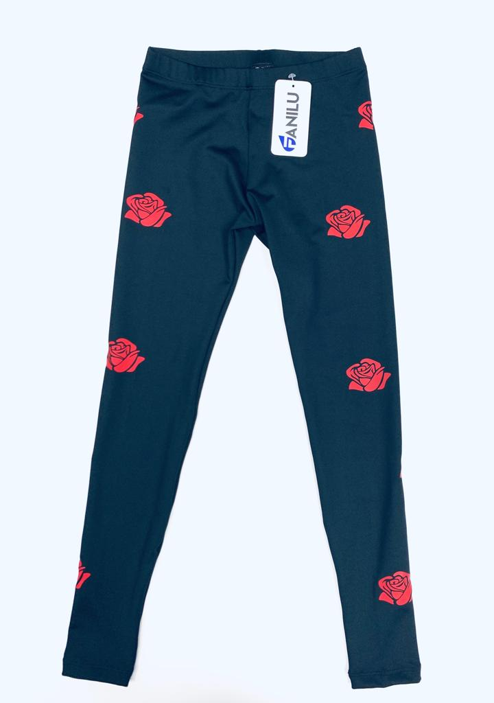 Roses Red Leggings