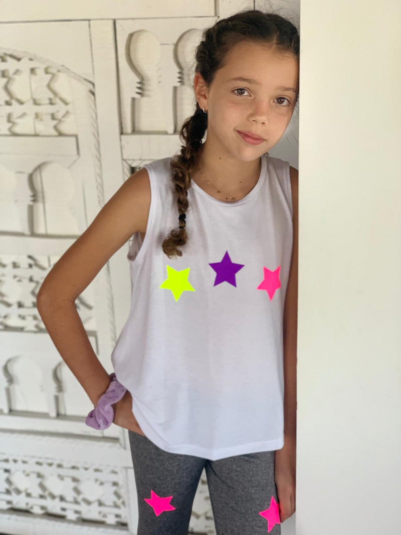 Washed Grey Fun Leggings - Fanilu Activewear For Kids