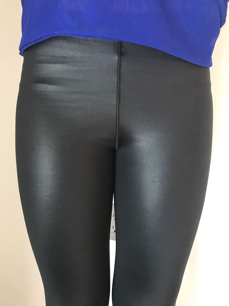 Shine Black Leggings