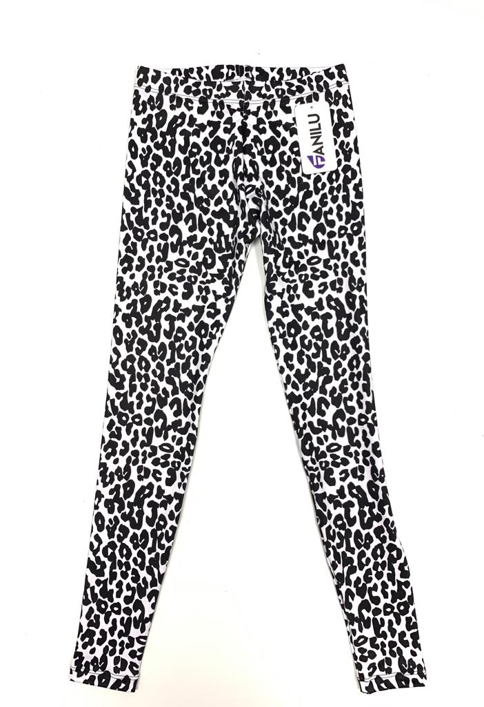 Leopard Black and White Leggings