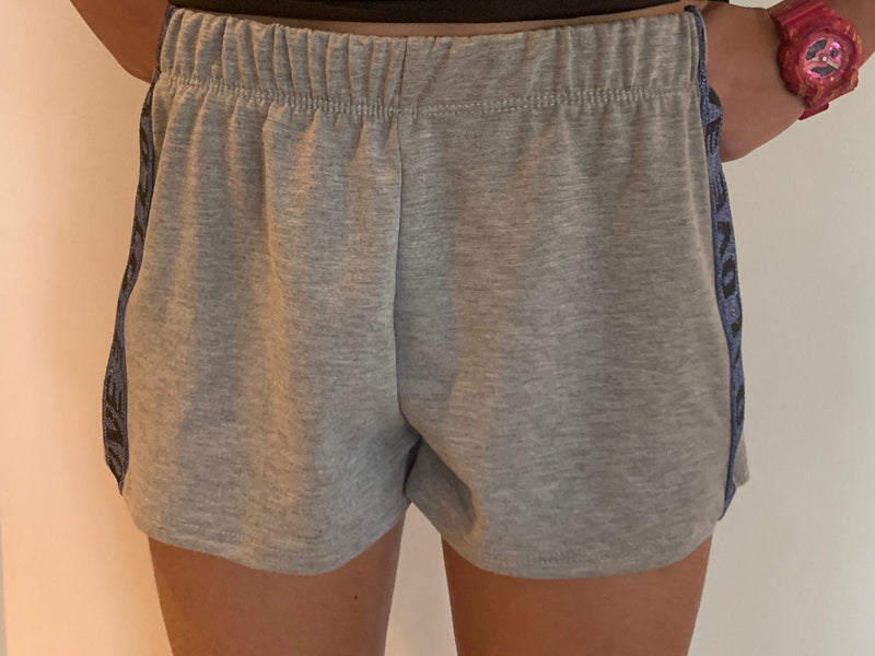 Stripe Side Short Grey Love-Fanilu