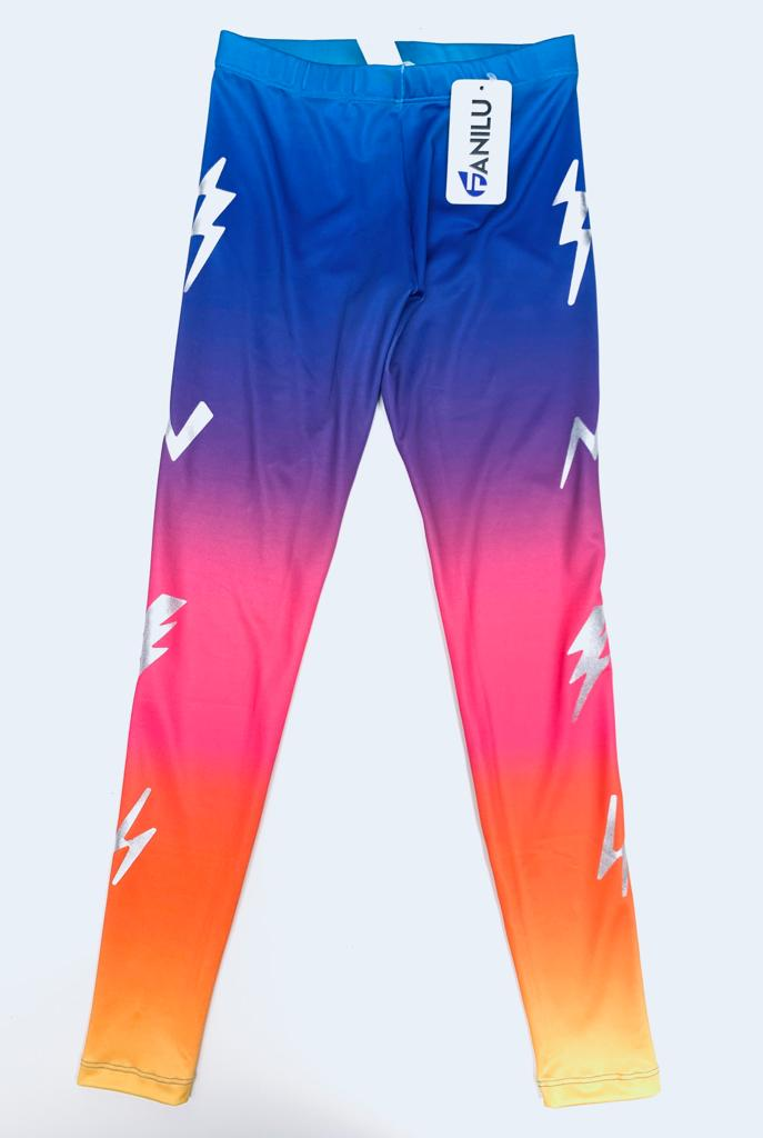 Bolts Tie Dye Leggings