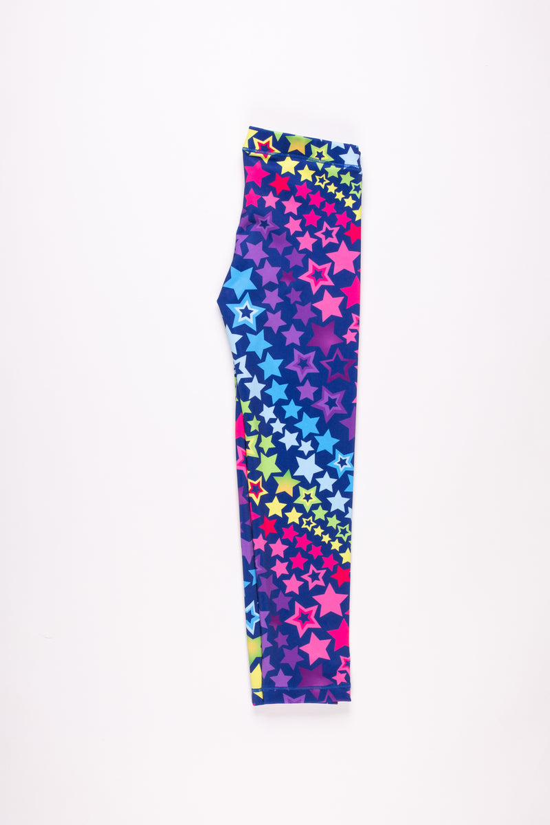Playful Stars Leggings - Fanilu Activewear For Kids