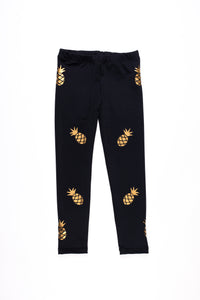 Pineapple Legging- Black/Gold