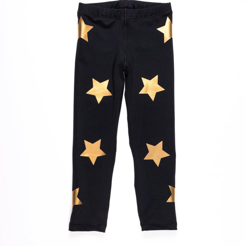 Stars Legging- Black/Gold
