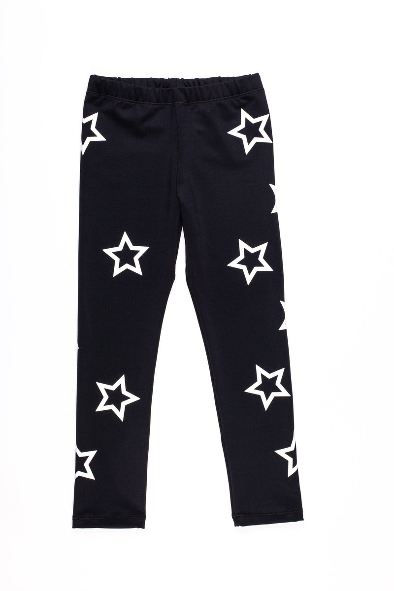 Open Stars White Leggings