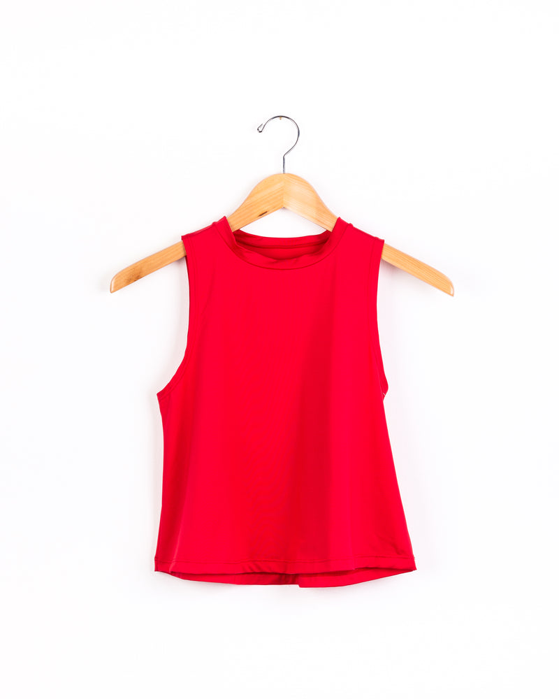 Olivia Red Tank-Tanks-Fanilu