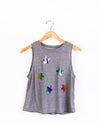 Stars Multicolor Grey Tank-Tanks-Fanilu