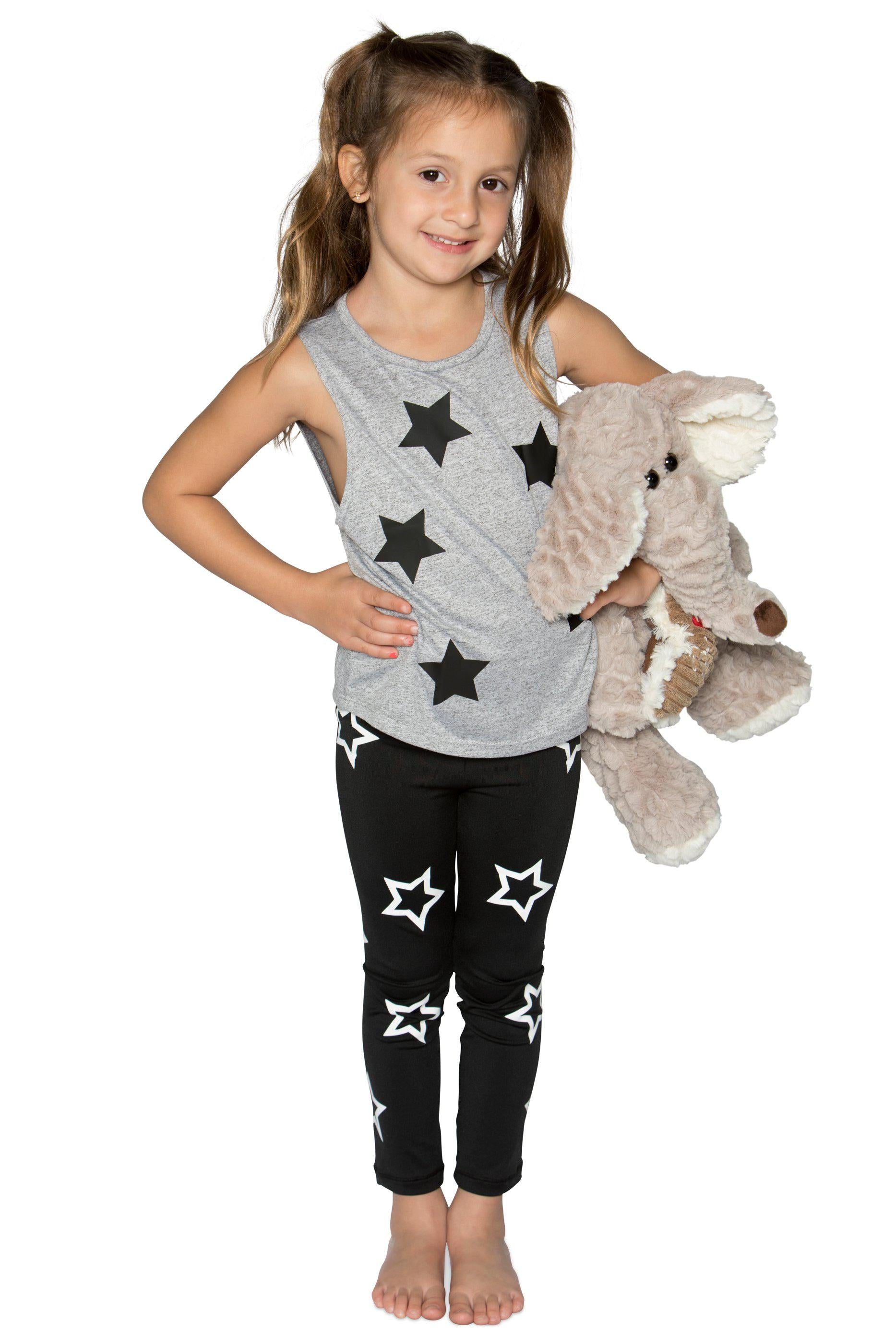 Stars Legging- Black/White