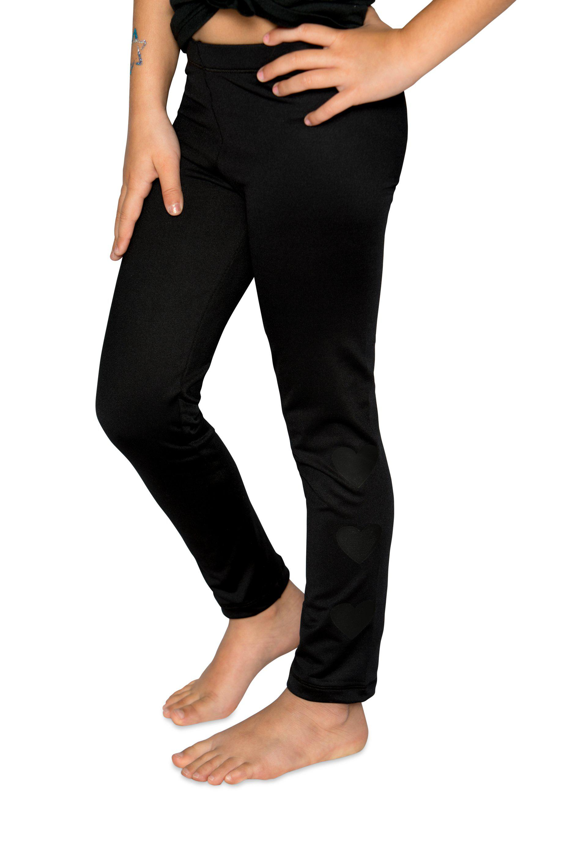 Hearts Legging- Black/Black