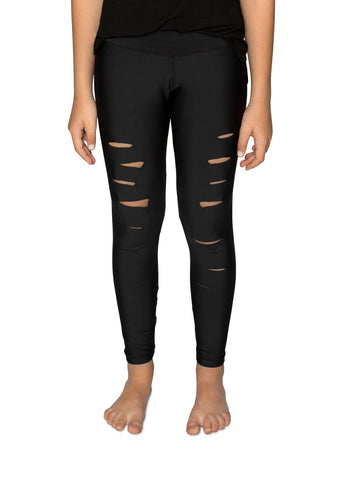 Ripped Legging- Black