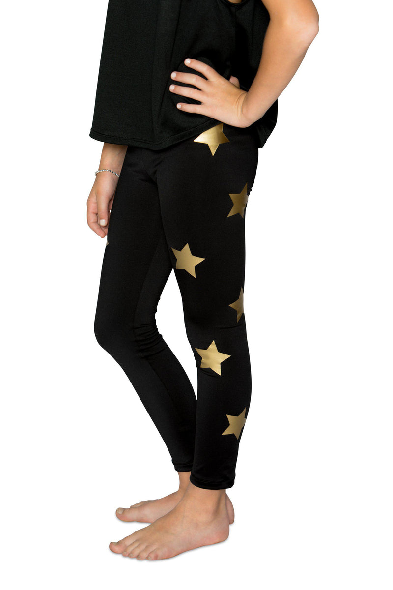 Stars Gold Leggings-Legging-Fanilu